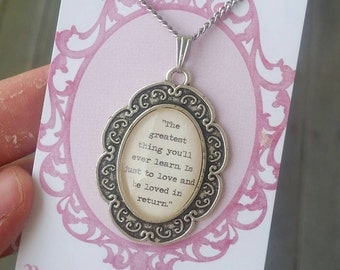 Moulin Rouge quote necklace