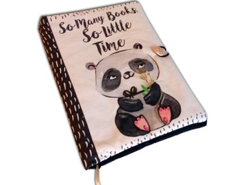 Book Cover Handmade, Book Cover, So many books, Fabric, Notebook Cover, book lovers, UK Book Accessories, Fabric book cover, Panda