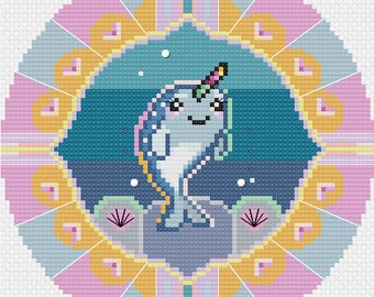Baby Narwhal - Cross Stitch Pattern - Downloadable PDF