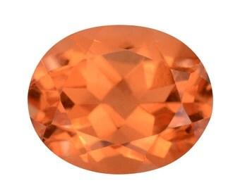 Imperial Orange Triplet Quartz Oval Cut Loose Gemstone 1A Quality 11x9mm TGW 3.80 cts.
