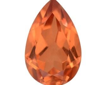 Imperial Orange Triplet Quartz Pear Cut Loose Gemstone 1A Quality 14x9mm TGW 5.15 cts.