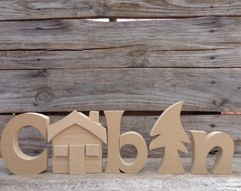 diy wood crafts unfinished wood decor unfinished wood letters unfinished cabin letter set