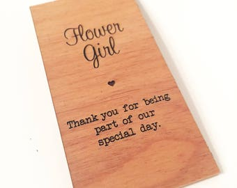 Flower Girl Wooden Place Setting