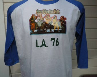 Size XL (48) ** Old Stock Dated 1976 Blue Oyster Cult  Shirt (Deadstock Unworn) (Single Sided) (Screen Stars)
