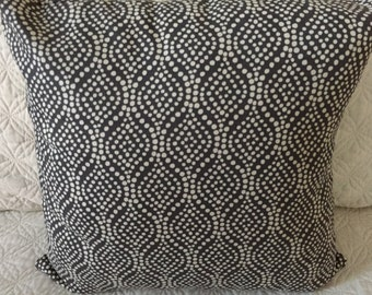 DECORATIVE PILLOW-Graphite Grey and white (J)