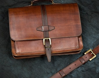 Leather Messenger Bag - Rebel