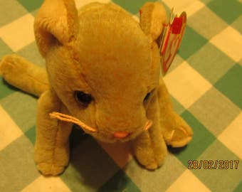 Scat the Cat Ty Beanie Baby With Errors Collectable Cat