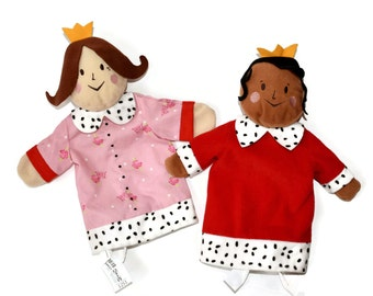 Vintage Ikea Gladlynt King & Queen Hand Puppets Royalty Prince Princess Fantasy Fairy Tale Castle