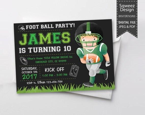 Football InvitationFootball birthday invitationPrintable Football