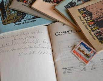 New Testament Gospel Books in Miniature Early 20th Century from The American Bible Society