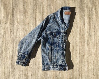 Acid Wash Levi's Denim Jacket | 90s vintage | Levi Strauss | grunge | jean jacket | oversized | distressed | unisex | size small | medium