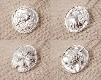 Choice of Fine silver pendant PMC- Nautical Theme