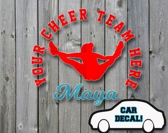 Car Decal Cheer Jump