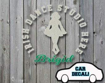 Car Decal Irish Dancer