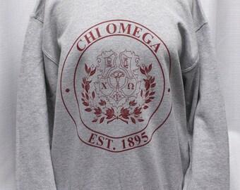 Chi Omega Crest Sweatshirt