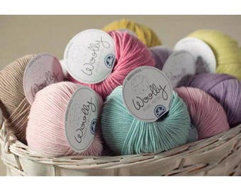 SUPER SALE ! Woolly DMC Yarn Bundle - Merino Yarn 100%, 5 ply - Any 6 colours - 6 skeins  - 50 gr per skein in the 6 colours of your choice