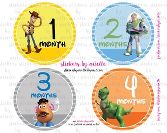Month by Month Baby Stickers - Toy Story Theme