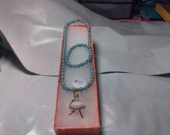 Ballet Dancer Necklace/ Bracelet Set Children