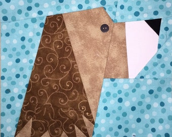 Spaniel Paper Pieced Block Pattern