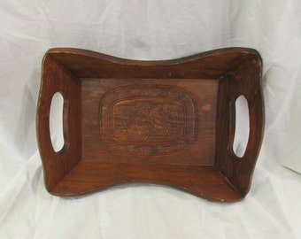 Tray, Wood, Trug Style, Give Us This Day..., 1970's