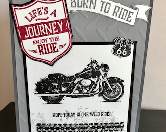 One Wild Ride Motorcycle Birthday Card