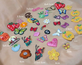 Wholesale Lot 40Rare flower butterfly fruit collection sewing iron on patch