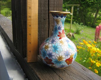 Cloisonne Vase, Decorated Vase, Floral Vase