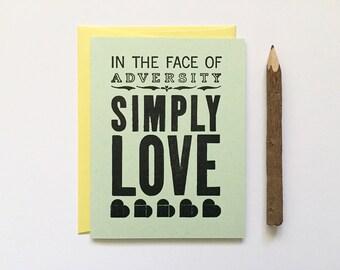 Letterpress Card - Simply Love
