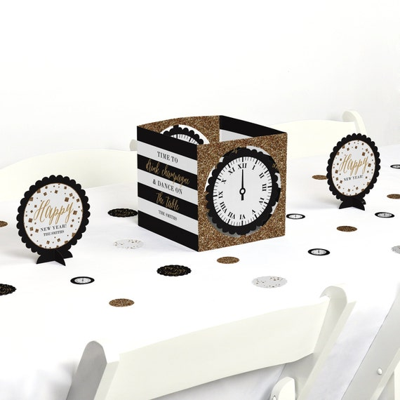 New year s eve gold centerpiece table decoration kit
