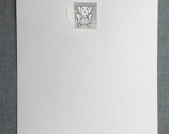 """UNFRAMED original drawing """"Armchair"""" - limited edition of 10, various sizes available"""