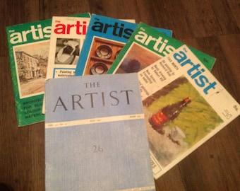 Vintage Art Magazines. The Artist. 1951-1970