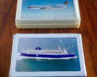Vintage Playing Cards. P&O Ferries/Gulf Air. 1960's /70's.