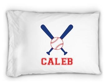 Personalized Baseball Pillowcase ~ Personalized Pillowcase ~ Sports Pillowcase ~ Standard Personalized Pillowcase
