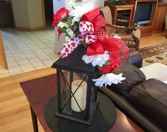 Valentine Lantern Swag, Valentine Day Decor, Decoration for Valentines Day, Valentines Gift Ideas for Wives, Gift for Her, Valentine Swag