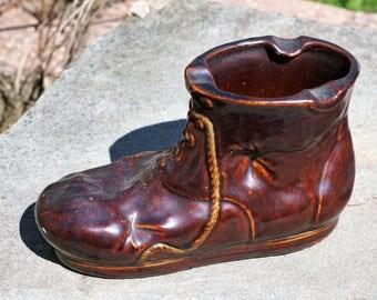 Vintage Old Shoe Ceramic Ashtray