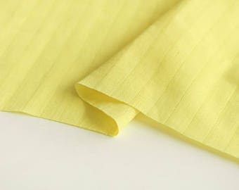 Yellow Double Cotton Gauze Fabric by Yard