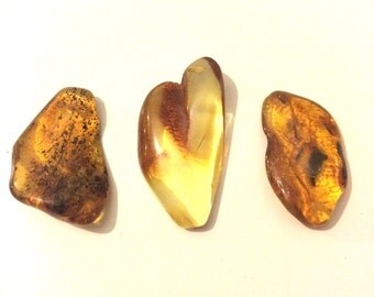 Amber Tumble stone 1 piece