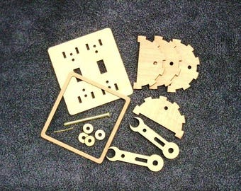 KIT. Steam punk light switch levers. Double. Wood