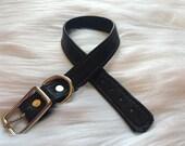 Black Leather Collar, BDSM Collar, Bondage Collar, Slave Collar, Submissive Collar, O Ring Collar, Fetish Collar, Locking Collar