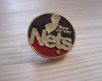 Vintage New Jersey Nets 80's NBA Lapel/ Hat Pin