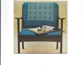 Vintage crochet chairback booklet - contains 10 designs to crochet