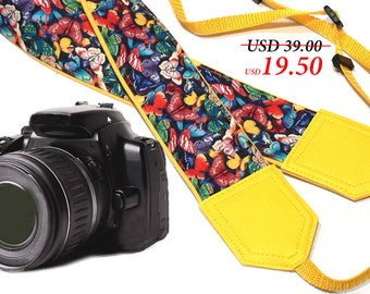 InTePro butterfly camera strap. DSLR / SLR camera strap. Camera accessories.