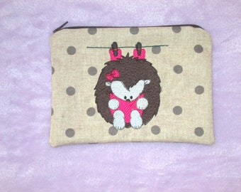 embroidered purse pouch