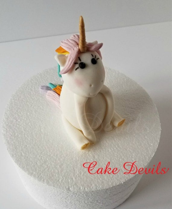 unicorn cake topper unicorn cake topper fondant unicorn rainbow hair unicorn 8165