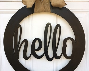 Hello door hanger, door hanger, hello decor, gift idea, door decor, hello