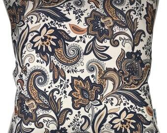Linen Cushion Cover - 45cm stripe in raw linen