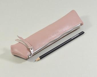 Handmade Pink Leather LeadorDead Pencil Case.