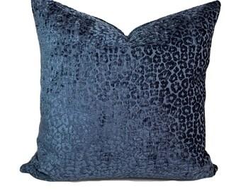 Decorative pillow, Blue pillow cover, Blue throw pillow, Accent pillow, Couch pillow, Sham, 12x20, 16x16, 18x18, 20x20, 22x22, 24x24, 26x26