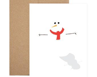 SALE - Snowman Shadow Greeting Card