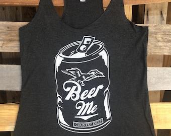 Country Deep Beer Me Racerback tank top